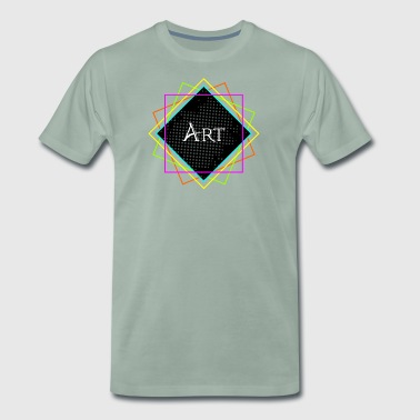Modern Art Neon Lights - Männer Premium T-Shirt