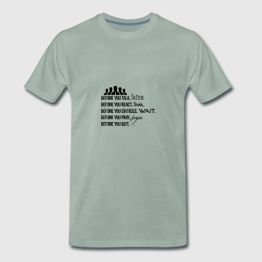 Lists, think, wait, forgive and try - Men's Premium T-Shirt
