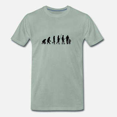 Best Freaking Dad Ever Evolution to Father T-Shirt Gift Kids Parents - Men's Premium T-Shirt