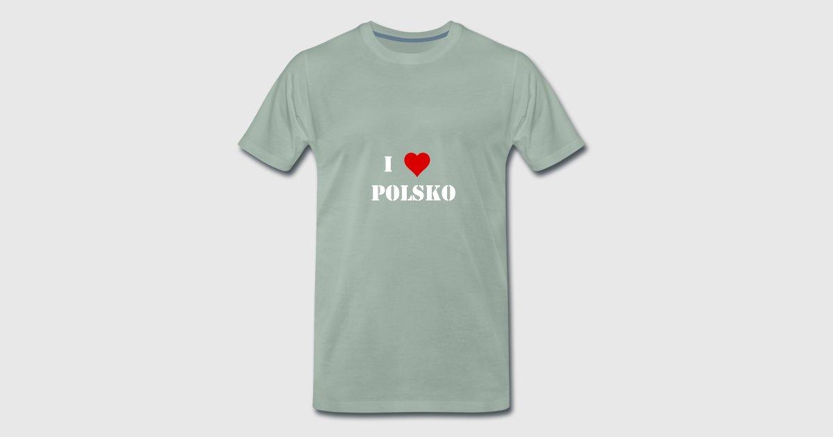 I love Polen polnisch weiß Geschenkidee Hauptstadt von | Spreadshirt