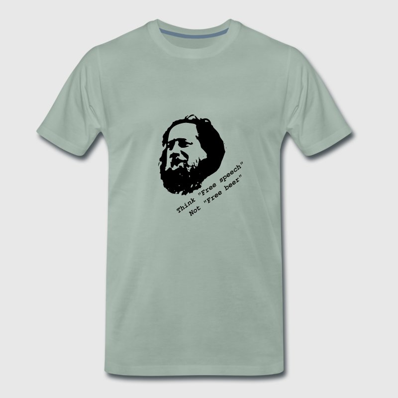 Stallman 'Think free speech, not free beer' - Men's Premium T-Shirt