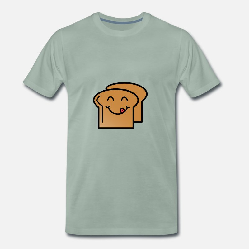 Toast T-Shirts - Toast Laughing Gift Idea Food Kids Delicious - Men's Premium T-Shirt steel green