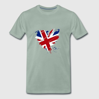 Uk Heart Heart Engeland Voetbal UK - Mannen Premium T-shirt
