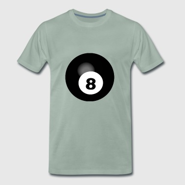 pool Billards biljard snooker kö bollen sport42 - Premium-T-shirt herr