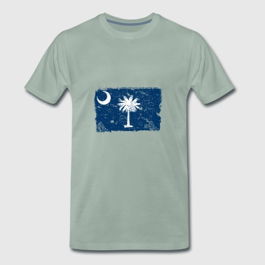 South Carolina Vintage Flag - Herre premium T-shirt
