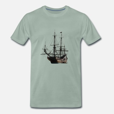 Tall Ship ship - Men's Premium T-Shirt