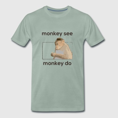 Monkey se, abe do - Herre premium T-shirt