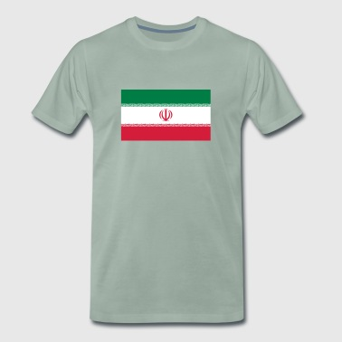 National Flag Of Iran - Herre premium T-shirt