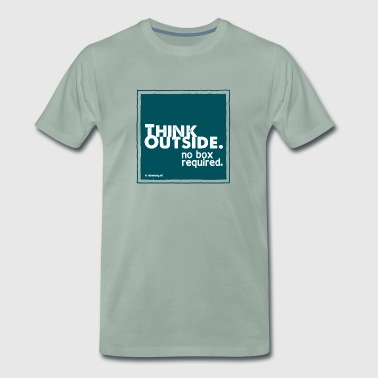 Think Outside - Premium T-skjorte for menn