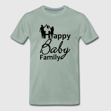 Happy Baby Family Familie Kind Geburt Spruch - Men's Premium T-Shirt