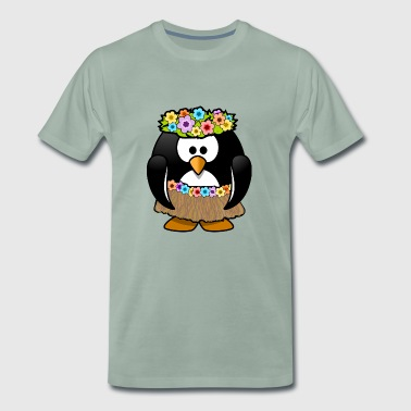 Hula penguin - Men's Premium T-Shirt
