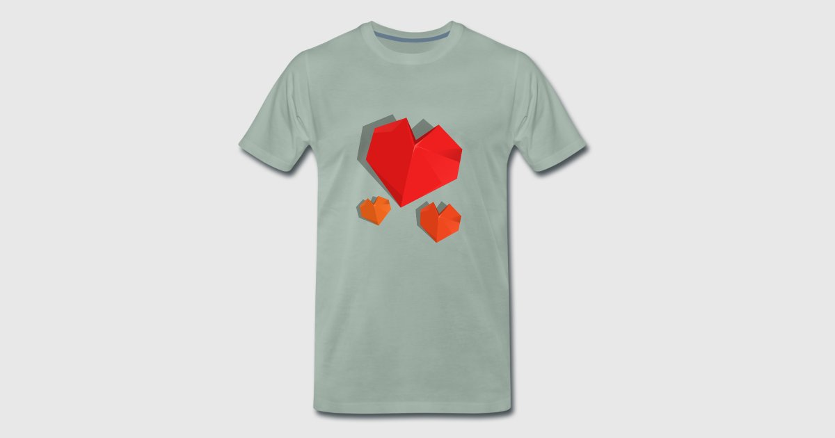 Origami Heart 3d Love Heart By Marinovadesigns Spreadshirt