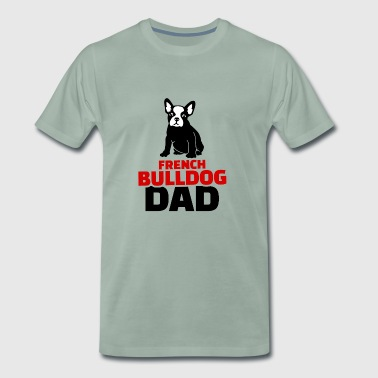 french bulldog dad red - Men's Premium T-Shirt