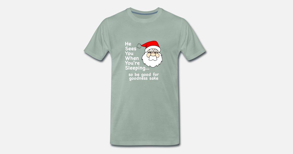 Einzigartig und Lustig Weihnachten Santa Sees You von | Spreadshirt