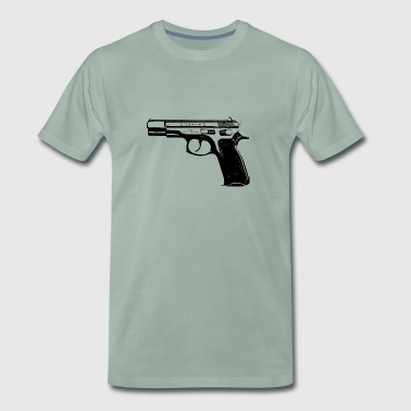 CZ75B 9mm pistol - Men's Premium T-Shirt