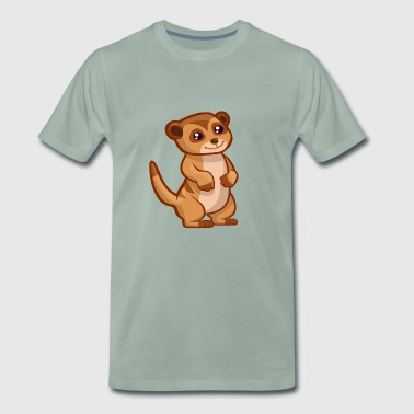 Meerkat - Upright Comic Styl T-Shirt - Men's Premium T-Shirt