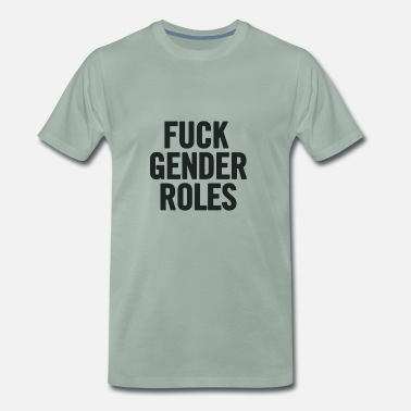 Gender Neuken Black Gender Roles - Mannen Premium T-shirt
