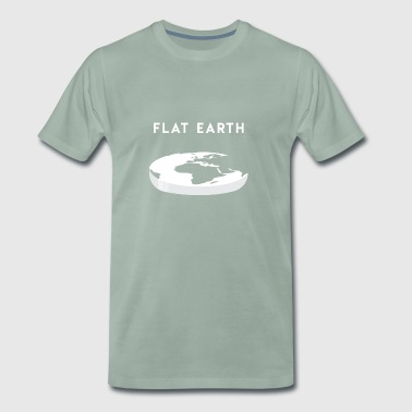 Flat Earth gift for Flat Earthers - Men's Premium T-Shirt