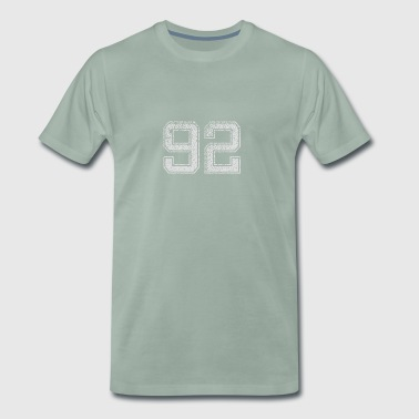 Number 92 Number Ninety-Two Nine Two Gift - Men's Premium T-Shirt