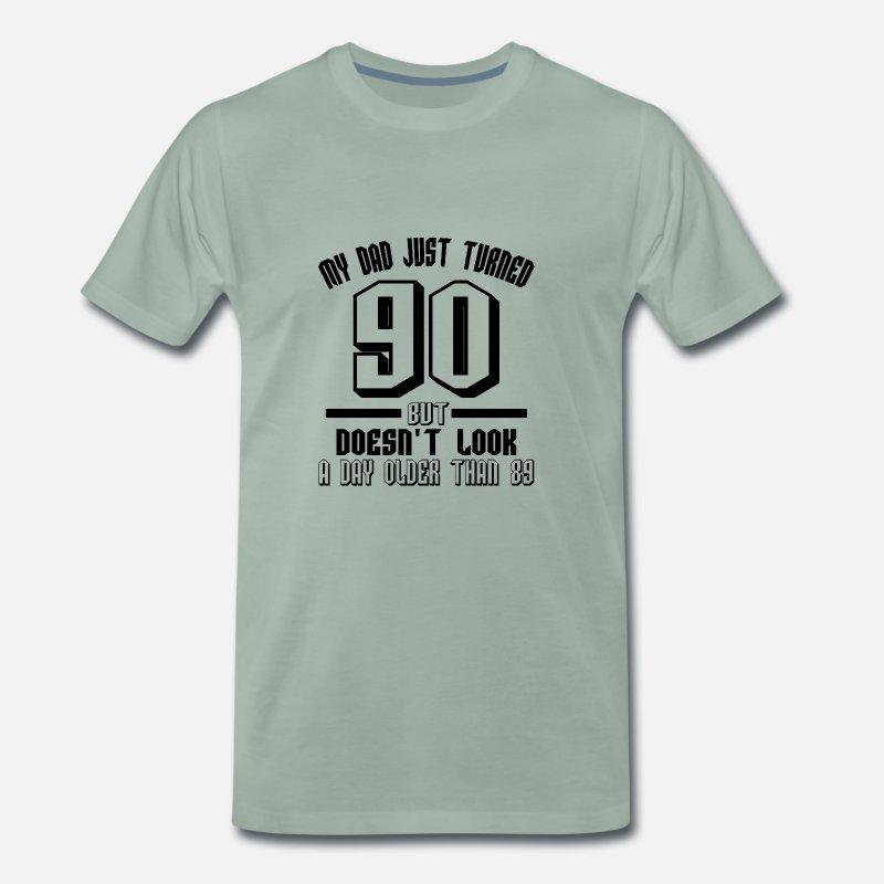 90 Years Birthday Gift Grandpa Father Ninety Old Mens Premium T