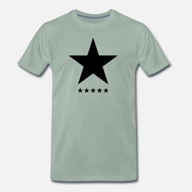 David Bowie Blackstar, star, hero, music, rock, space, galaxy - Mannen Premium T-shirt
