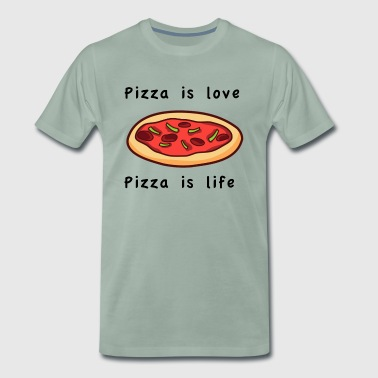 Pizza is love Pizza is life - Männer Premium T-Shirt