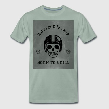 Motorcycle Barbecue Rocker - Men's Premium T-Shirt