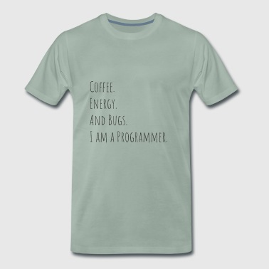 Bug PROGRAMMERS - Coffee, energy and bugs - Men's Premium T-Shirt