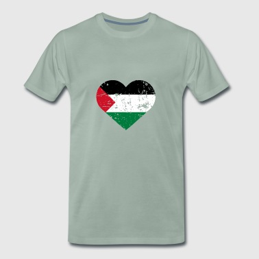 Palestine heart - Men's Premium T-Shirt