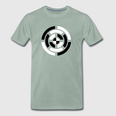 Circle, Symbol, Sign, Icon, Emblem, Badge,  - Men's Premium T-Shirt