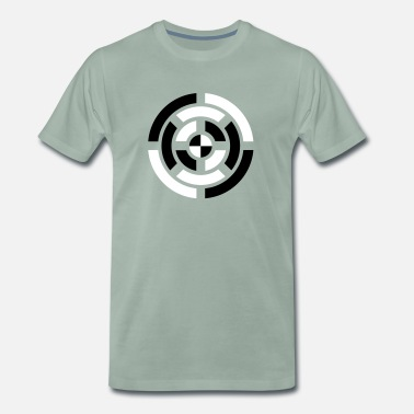 Circle, Symbol, Sign, Icon, Emblem, Badge,  - Mannen Premium T-shirt