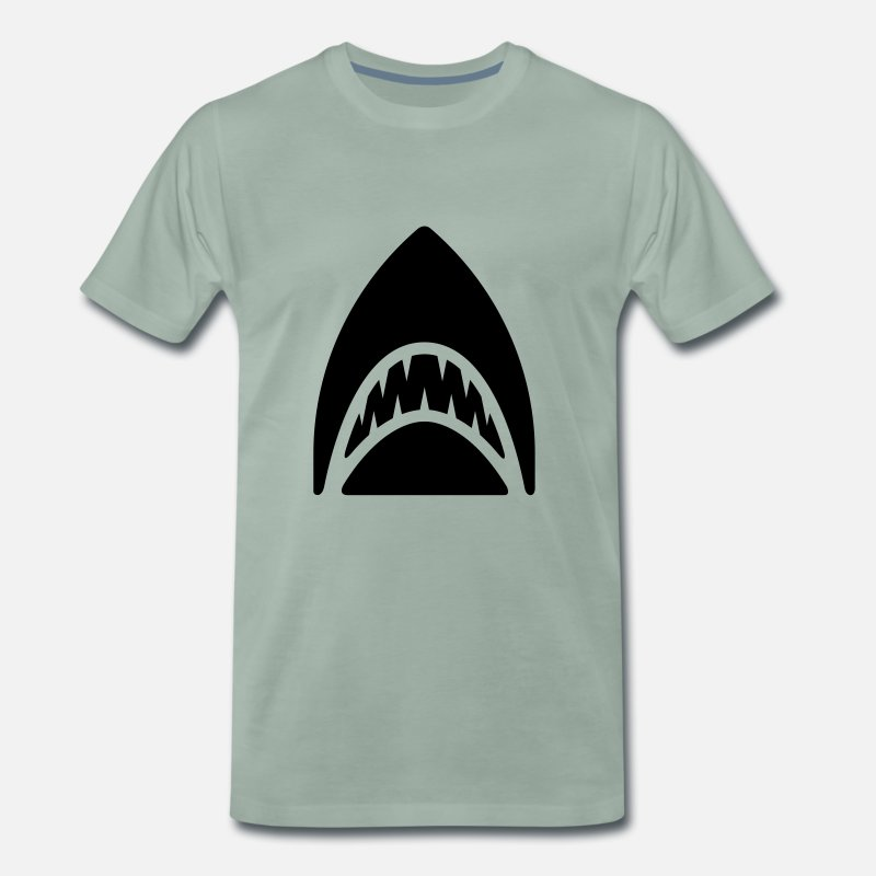 Sharks T-Shirts - shark - Men's Premium T-Shirt steel green
