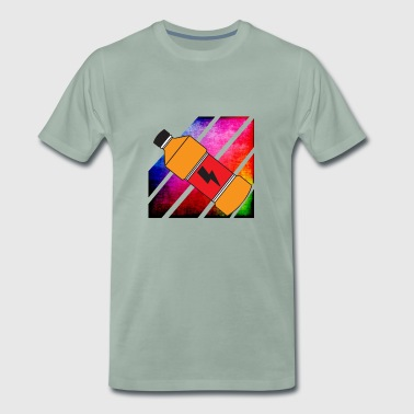 Colorful Retro Energy Dring - Men's Premium T-Shirt