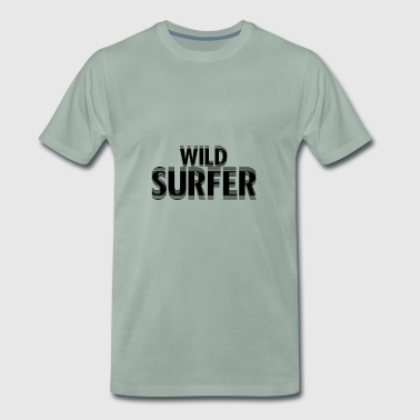 Water Wave Wild Surfer - Men's Premium T-Shirt