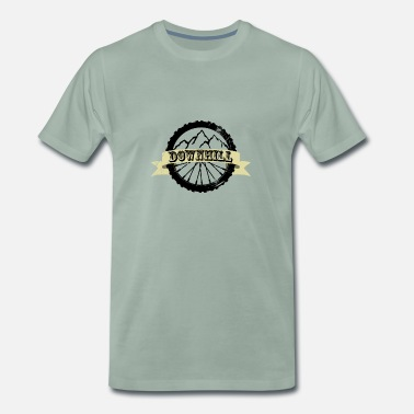 Freeride Mtb Bicycle wheel downhill gift mountain biker - Men's Premium T-Shirt