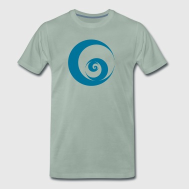 Wave, Vortex, circle, swirl, surfing, seem, sea.  - Men's Premium T-Shirt