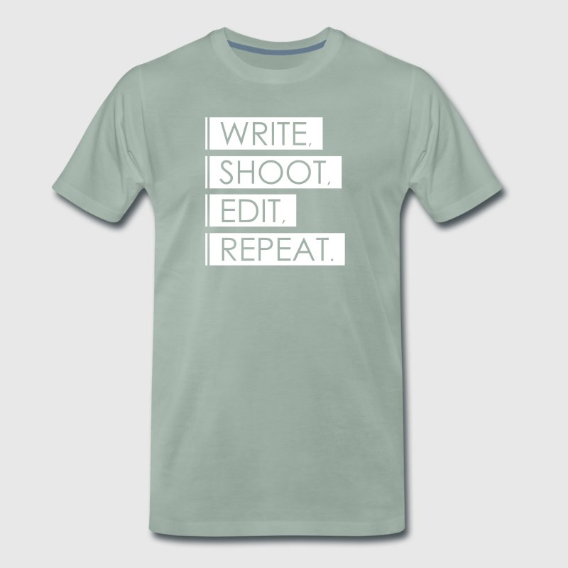 Write, Shoot, Edit, Repeat - Men's Premium T-Shirt