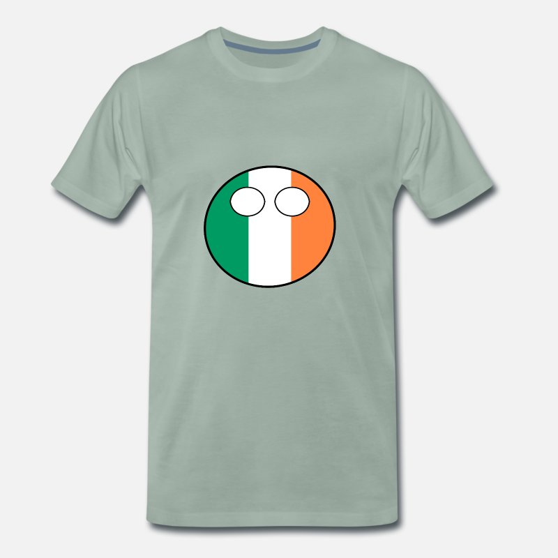Ball T-Shirts - Countryball Country Home Ireland - Men's Premium T-Shirt steel green