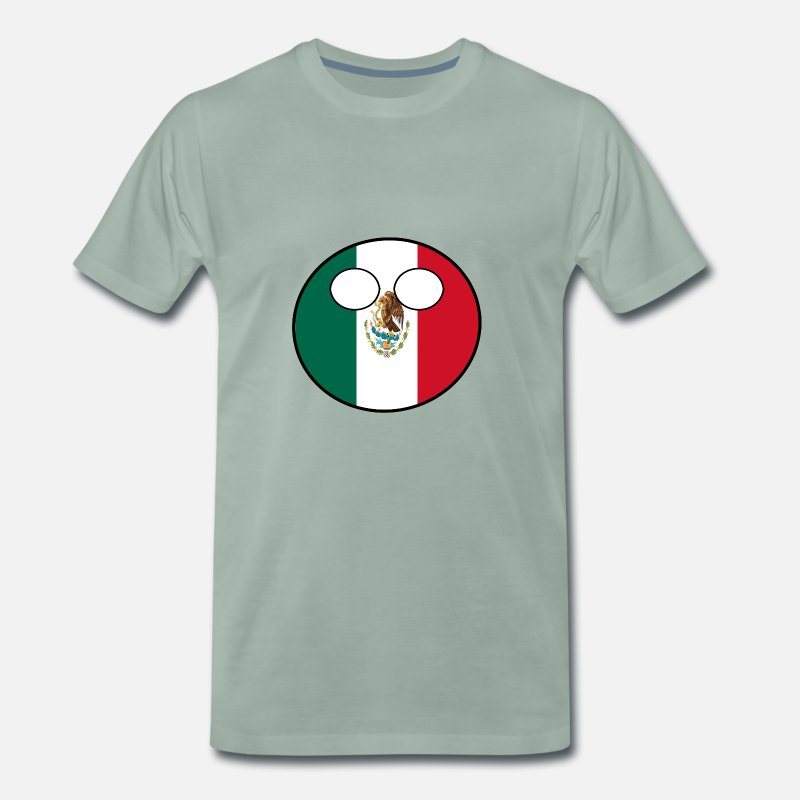 Ball T-Shirts - Countryball Country Home Mexico - Men's Premium T-Shirt steel green