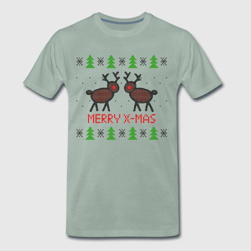 Christmas Sweater Knitting Pattern Merry X Mas Reindeer By Sylltrade