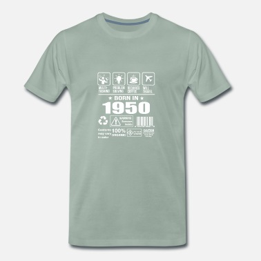 1950s Born In 1950 - Men's Premium T-Shirt