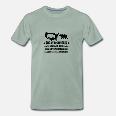 Rocky Mountains Bison Grizzly Rocky Mountain Nationalpark Berge - Männer Premium T-Shirt