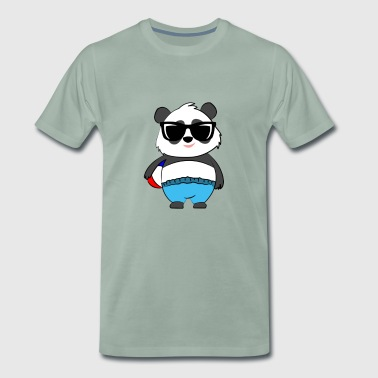 Beach Panda - Premium T-skjorte for menn