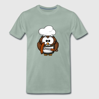 bbq barbecue grillen burger beef bacon steak spare - Männer Premium T-Shirt