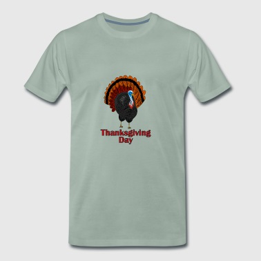 Thanksgiving kalkun - Premium T-skjorte for menn