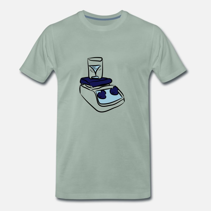 Research T-Shirts - Magnetic Stirrer - Men's Premium T-Shirt steel green