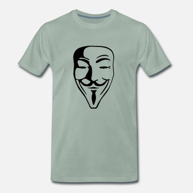 Jacob Guy Fawkes for bright shirts - Männer Premium T-Shirt