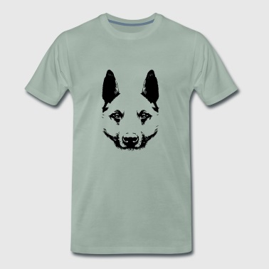 Dog face silhouette gift idea - Men's Premium T-Shirt