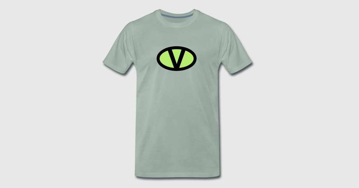 V Like Vegan Symbol Comic Style Save Earth Nature Van Greenstuff