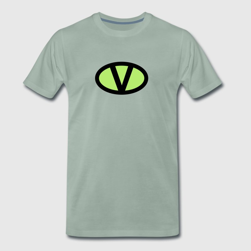 V Like Vegan Symbol Comic Style Save Earth Nature By Greenstuff